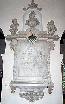 Memorial of Anna Sophia Dormer in All Saints Church Wing Buckinghamshire