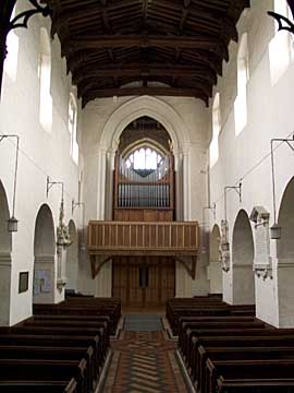 All Saints interior with pipe organ