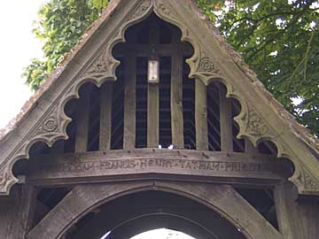 Lychgate at All Saints, Wing Buckinghamshire