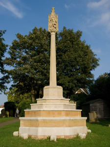 Wing War Memorial in All Saints churchyard, September 2013