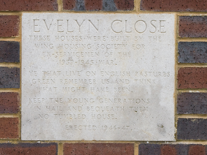 Evelyn Close Plaque 2