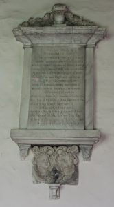 Memorial of Margaret Fynes of Wing Buckinghamshire