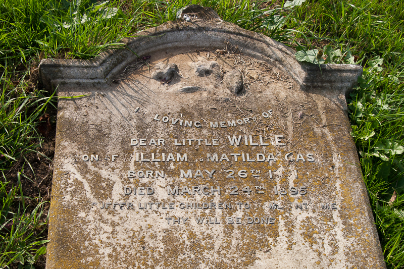 William Gaskin gravestone in Wing Buckinghamshire