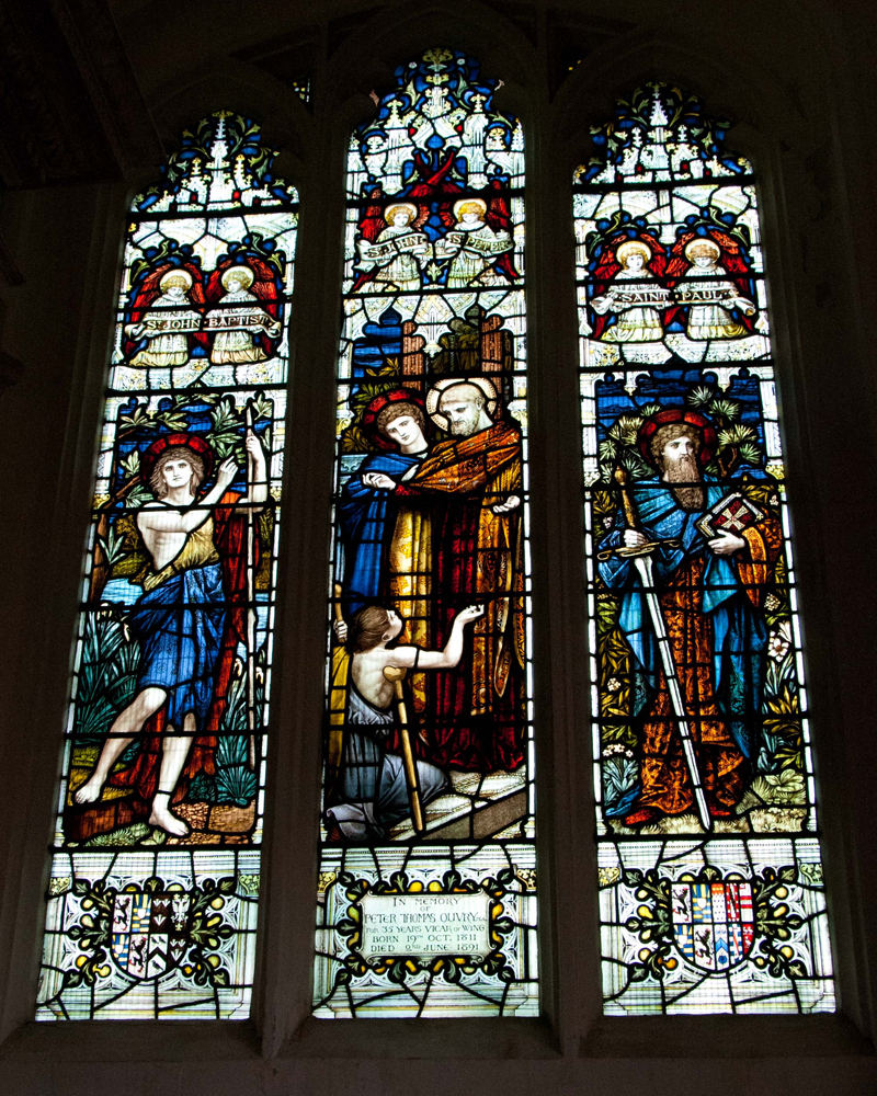 Ouvry stained glass window in Wing Buckinghamshire