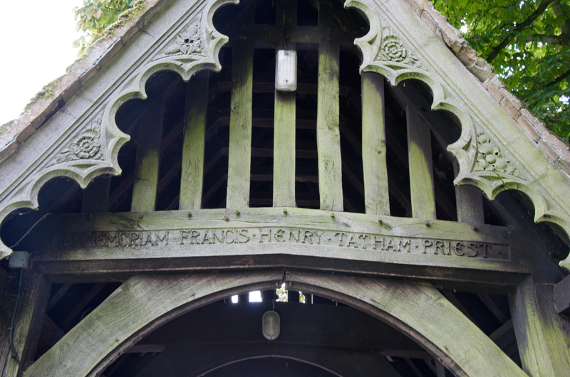 Wing lychgate in memoriam to Francis Henry Tatham