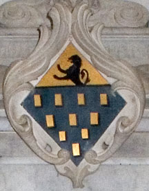 Dormer family crest in All Saints Church Wing Buckinghamshie