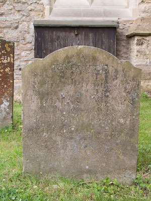 Gravestone of Thomas Adams in Wing Buckinghamshire