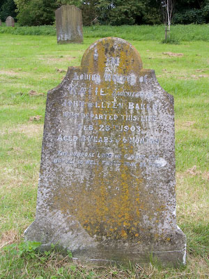 Gravestone of Katie Baker of Wing