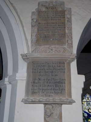 Memorial to Henry Bell, Jane Bell and William Bell of Wing
