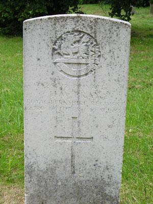 Gravestone of Herbert W Bray