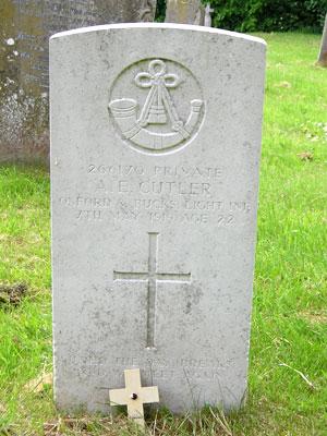 Gravestone of Arthur Edwin Cutler