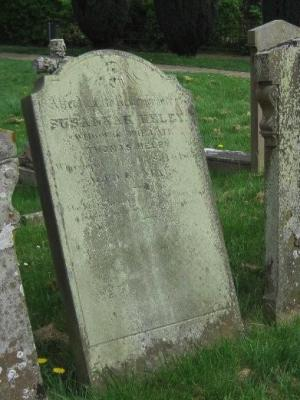 Gravestone of Susannah Heley in Wing Buckinghamshire