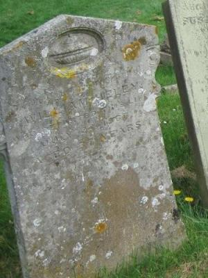 Gravestone of William Heley in Wing Buckinghamshire