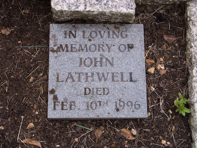 Gravestone of John Lathwell in Wing Buckinghamshire