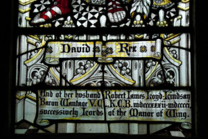 Memorial stained glass window at Wing Buckinghamshire