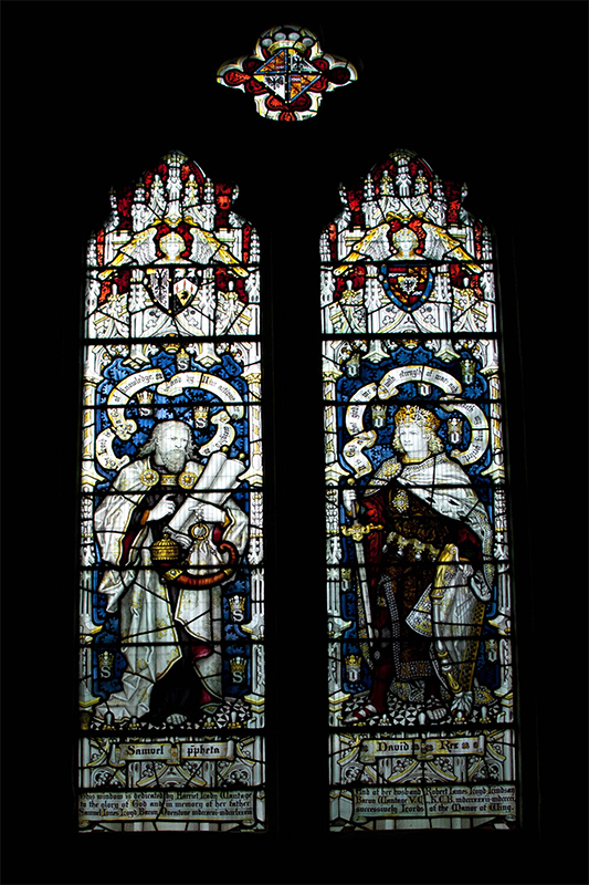 Memorial stained glass window Lloyd Overstone Wantage at Wing Buckinghamshire
