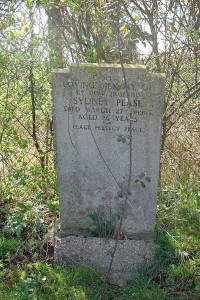 Gravestone of Sydney Pease of Wing Buckinghamshire