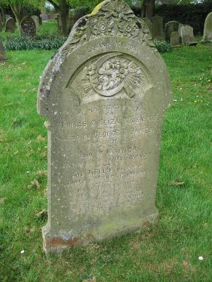 Gravestone of Thomas, Eliza, George, James, Mailtda and Nellie Roadnight in Wing Buckinghamshire