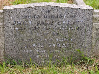 Gravestone of James Syratt and Emily Jane Syratt of Wing Buckinghamshire