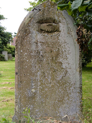 Gravestone of George Syratt of Wing Buckinghamshire