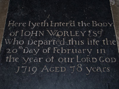 Memorial to John Worley of Wing Buckinghamshire