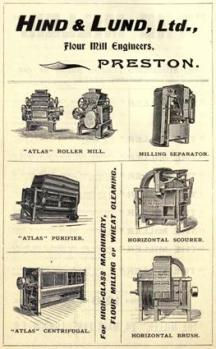 Hind & Lund mill machinery ad 1904